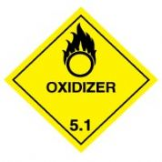 Hazard safety sign - Oxidizer (5.1) 052